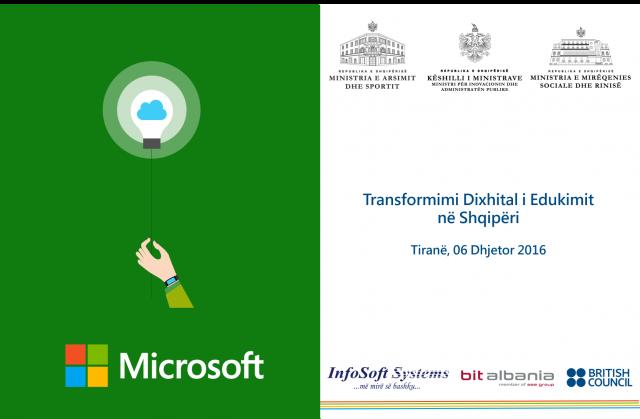 """Nesër mbahet në Tiranë konferenca """"Transformimi Dixhital i Edukimit"""" organizuar Microsoft"""