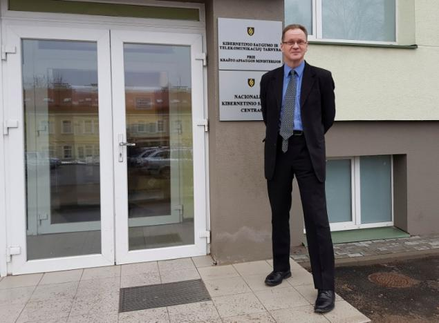 Head of Lithuania's National Cyber Security Center Cerniauskas poses for a picture in Vilnius