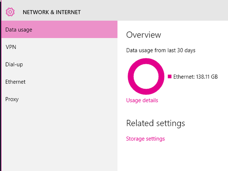 network-and-internet-data-usage