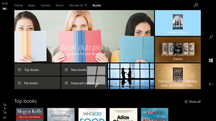 Windows 10 me një dyqan librash elektronikë