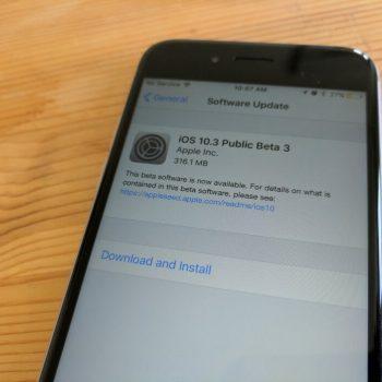 Apple publikoi betan e tretë publike të iOS 10.3
