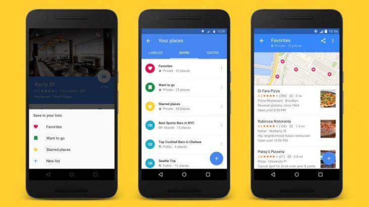 Krijoni dhe ndani lista destinacionesh me versionin e ri të Google Maps