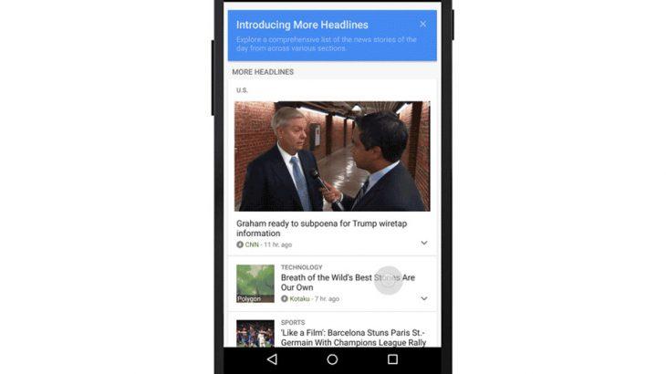Google përditëson aplikacionin News & Weather, mbi 200 tituj kryesor për tu exploruar