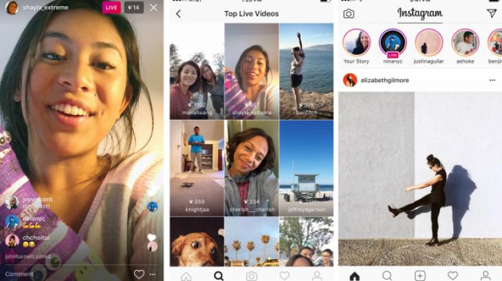 Instagram lançon videot live, fshihen pas përfundimit të transmetimit